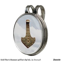 Gold Thor's Hammer golf hat clip ball marker Stylish Hats, Thors Hammer, Visors, Hammered Gold, Golf Accessories, Golf Shoes, Golf Ball, Golf Clubs, Markers