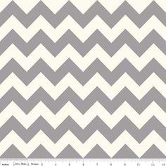 Gray Chevron Fabric Riley Blake C640 Medium by AnnadaisysFabrics