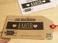 Etiquetas imprimibles gratis para detalles de boda