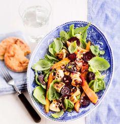 Warm red beet and cheese salad - Lämmin punajuuri-juustosalaatti, resepti – Ruoka.fi