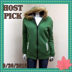✨Cute Faux Fur Hoodie w/Rhinestone Trim Pockets✨ NWOT Very Cute & Cozy Hoodie with Super Soft & Plush Grey Faux Fur Inner Lining, Rhinestone Pockets, & Faux Fur Trim Hood. ✨Perfect Condition! ✨Never Worn✨ Tops Sweatshirts & Hoodies