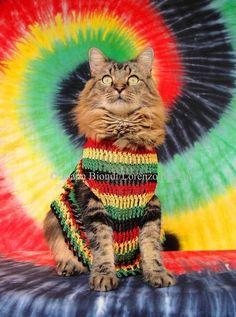 Rasta Cat Greeting Card por LorenzoTheCat en Etsy