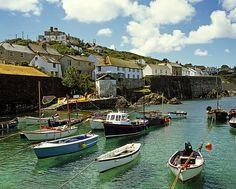 Coverack Harbour Cornwall Uk 1990 ©David Davies