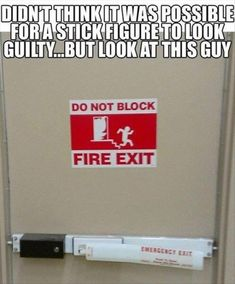 Hahahah! Crazy Guilty stick figure....