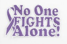 Hodgkin's Lymphoma is one of September's Awareness Cancers. No One Fights Alone® Peel and Stick Patch | Choose Hope