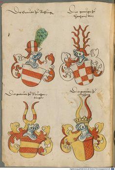 Wappen deutscher Geschlechter Augsburg ?, 4. Viertel 15. Jh. Cod.icon. 311  Folio 70v