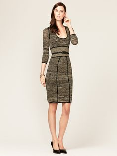 Metallic Pointelle Belted Dress by Catherine Malandrino at Gilt