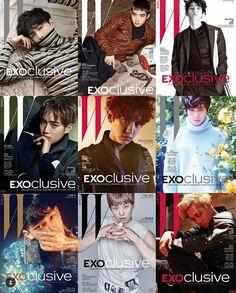 W Korea magzine, EXO super cute