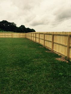 Wooden fencing makes the yard look great!