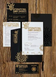 Love the sharp look of the black invitations items with the gold accents -- idea for Lifetime Giving Gala -- use silver accents instead Event Invitation Design, Gala Invitation, Corporate Invitation, Carton Invitation, Invitation Cards, Party Invitations, Formal Invitations, Invitation Ideas, Invites