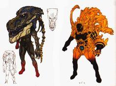 A couple of amazing design by Katsuya Terada for Kamen Rider...