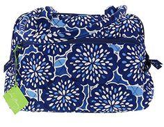 Vera Bradley Zip-Around Handbag Purse Shoulder Bag Satchel Handbag in Petal Splash