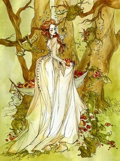 Meredith and goblins  From Meredith Gentry?  - The Goblin Market Art Print Abigail Larson