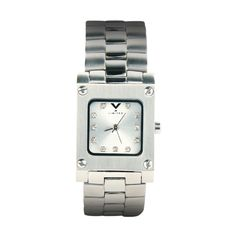 Orlando XI - Swiss Movement Stainless Steel w/crystal markers $150