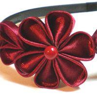 Kanzashi bandeau de fleur avec des rubans