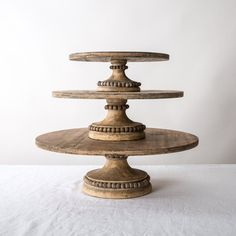 Wood Beaded Cake Stands