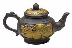 Golden Dragon Yixing Clay Teapot