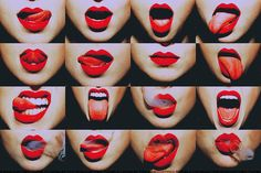 Red lips, red lips everywhere...
