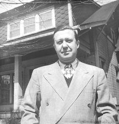Grandpa in front of 1645 Oregon Avenue. Easter 1948(?), Dapper!