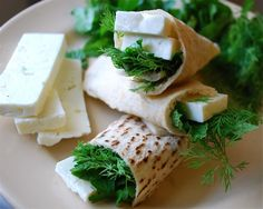 good idea via rachael ray - SAVORY BREAKFAST: MIDDLE EASTERN FLATBREAD WITH FRESH CHEESE