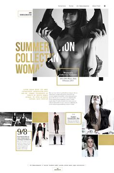 Ann Demeulemeester / Antwerp Six on Behance web design inspiration Design Web, The Design Files, Graphic Design Layouts, Email Design, Site Design, Tool Design, Layout Design, Print Design, Design Ideas
