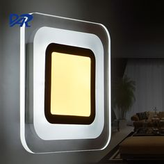 Hot Fashion Square Acrylic Led Wall Light 17W Bedroom Lamp Wandlamp Lamp Modern Sconce Applique Murale Luminaire Free Shipping #Affiliate