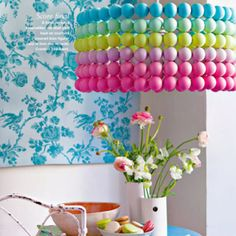 From French Marie Claire Idees April 2012, made with table tennis balls!