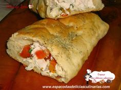 Pão caseiro recheado - Espaço das delícias culinárias