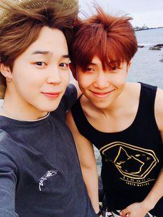 Jimin and Namjoom (Rap Monster) vacationing