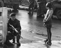 Northern Ireland,1972. British soldier and Irish girl.