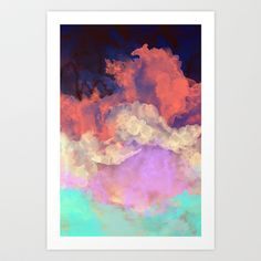 Into The Sun Art Print by Galaxy Eyes - $18.00