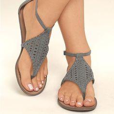 566281b9301 Smart Comfortable Hollowing Thong Flat Sandals