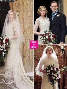 Lady Edith's wedding was a gorgeous affair as the character finally got her happily-ever-after during the 'Downton Abbey' finale -- and if you loved her wedding dress, you're in luck! SHOP for a similar frock here if you want to recreate the look for a special occasion.