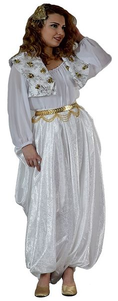 Traditional festive costume of emigrants from Üsküp/Skople (Macedonia).  Clothing style: first half of 20th century. This is a recent workshop-made copy, as worn by folk dance groups.