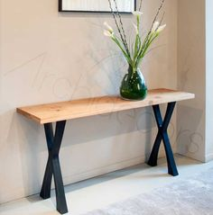 Looking for a designer console table? Discover our range of modern console tables in glass, metal and various woods. See the Tom Faulkner collection now. Rustic Furniture, Contemporary Furniture, Diy Furniture, Furniture Design, Modern Contemporary, Furniture Dolly, Plywood Furniture, Chair Design, Design Design