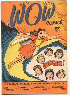 Wow Comics n°45, July 1946, cover by Jack Binder