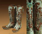 Double D Ranchwear Ammunition Boots Turquoise