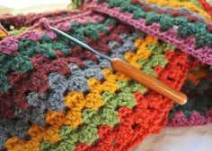 Granny Stripe.. I'm forcing myself to become a pro at crocheting JUST for this project alone!