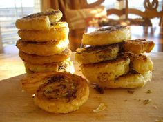 Pesto pinwheels. Appetizers for Exhausted Cooks