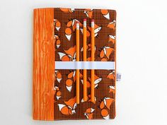 READY TO SHIP Notebook Cover Frolicking Fox by paperfromheaven composition notebook cover