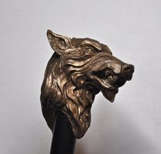Direwolf Cane - Resin Infused with Bronze Powder