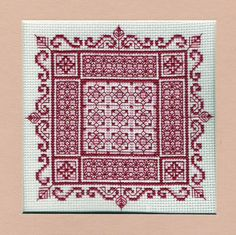 Combination Magic designed by Liz Almond of Blackwork Journey. would make a great doll house rug. Site not working though