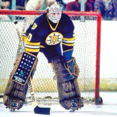 Gerry Cheevers...Boston Hockey Goalie, Ice Hockey, Boston Bruins Goalies, Bobby Orr, Goalie Mask, Nhl, Legends, Masks, Boards