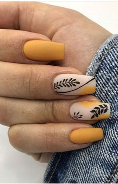 Nail Ideas Discover 17 Colorful Yellow Nail Arts That You Should Look At And Try To make your yellow nail art design look more special you can also incorporate some patterns like strips polka dots leopard prints and zebra prints into your nails. Colored Acrylic Nails, Best Acrylic Nails, Summer Acrylic Nails, Spring Nails, Cute Acrylic Nail Designs, Summer Nails, Fall Gel Nails, Chic Nails, Stylish Nails