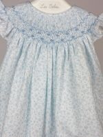 vestido liberty azul bebe belan