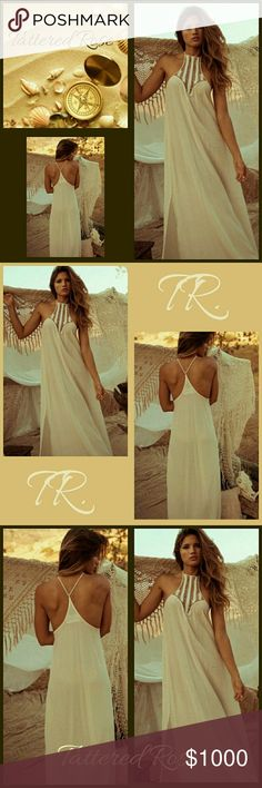 COMING SOON! Beach Dress30%Off Bundles Coming soon this beautiful open shoulder beach dress! A comfy chiffon to show off that golden skin tone. The crochet neckline adds to the beauty of the dress. A perfect dress for that special getaway or cruise! If you like what you see, please FOLLOW ME to see NEW LISTINGS Tattered Rose Dresses Maxi