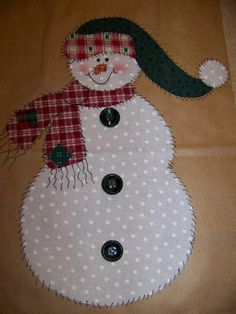 Applique patterns, Snowman, Angel and Christmas Tree pdf Pattern set of 3 Great