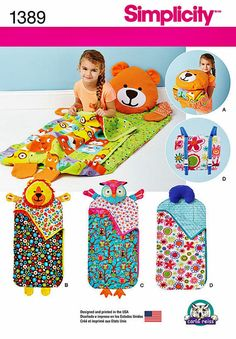 Naptime or playtime camping, these will be great fun for the little ones. See pattern back picture for details, click on the zoom for easy reading. All