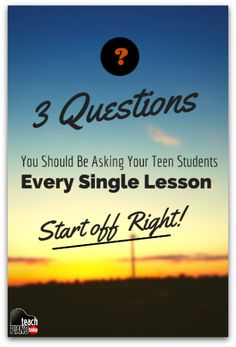 Are You Asking Your Teen Piano Students These 3 Questions? | Teach Piano Today