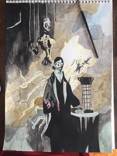 I painted Micolash from Bloodborne using Mignola's water color style. http://ift.tt/2kotlT6